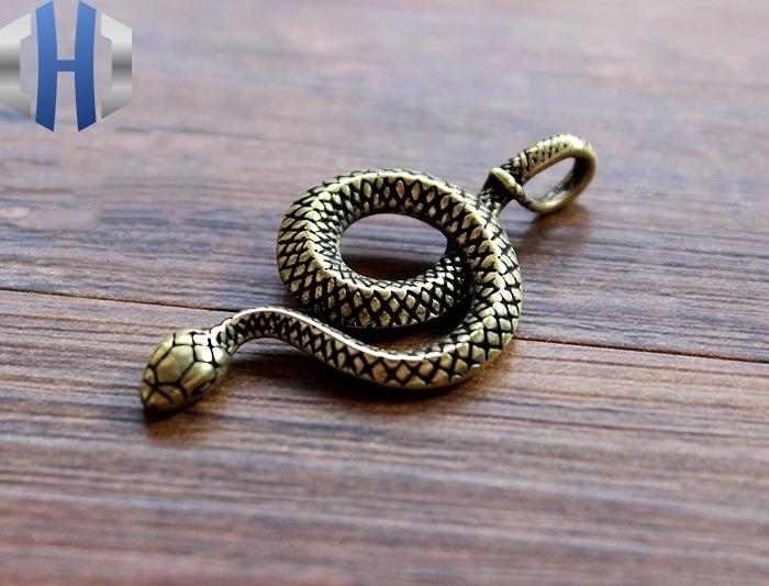 LLavero de serpiente de latón EDC llavero colgante EDC coche colgante