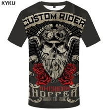KYKU marque moto T-shirt Punk T-shirt chevalier chemises 3d T-shirt hommes décontracté Rock Vintage Hip Hop été T-shirt haut Homme vêtements