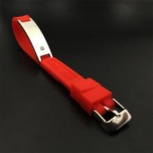 Gratis verzending Mode Siliconen Armband Hoge Kwaliteit Sieraden Rvs energie Armband anion siliconen band