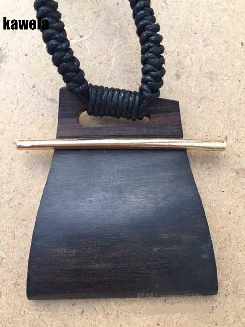 Free Shipping New Vintage Sandalwood Handmade Pendant Adjustable Necklace