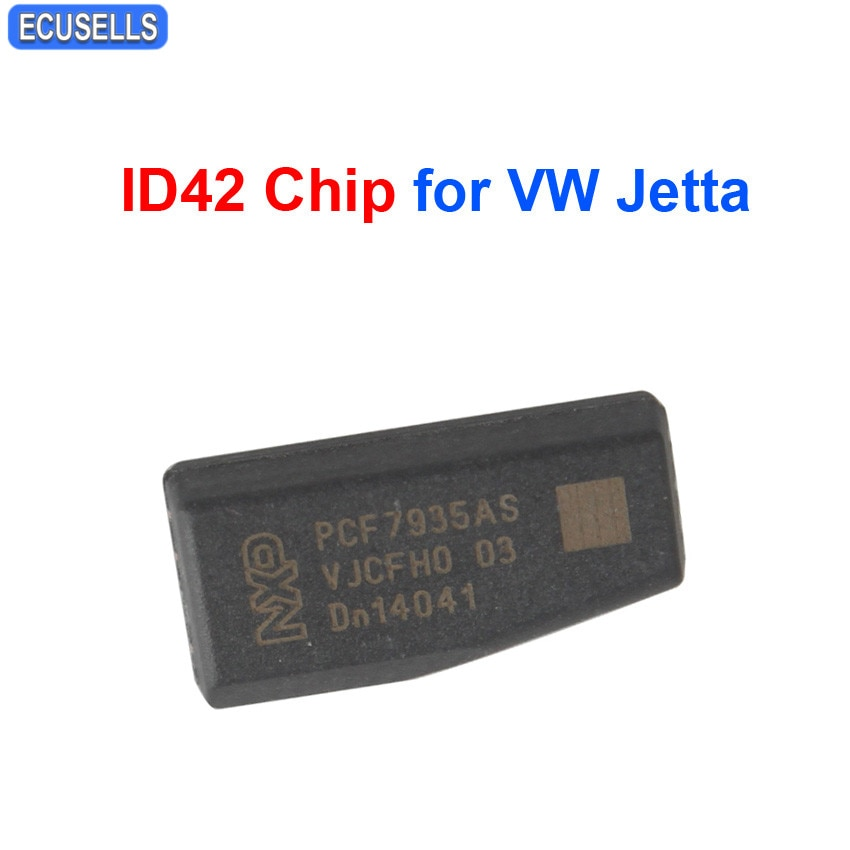 Chips de llave de coche ID42 Chip carbono TP10 Chip virgen transpondedor ID 42 42 Chip para Volkswagen j-etta
