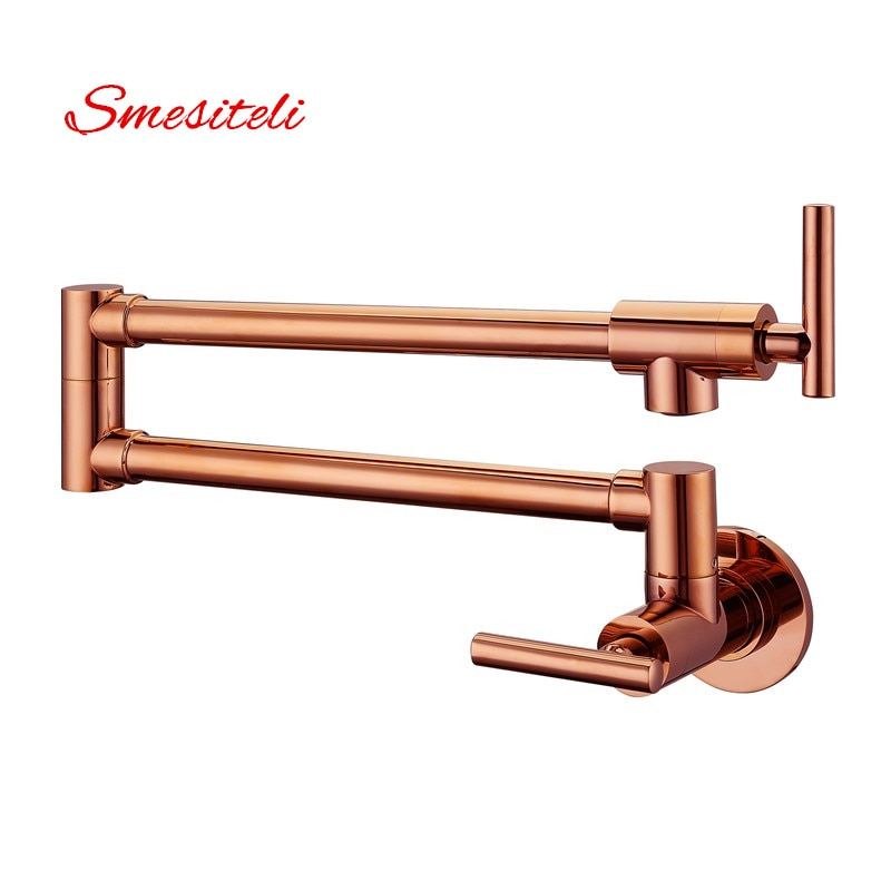wall mounted tooth brush holder rose gold finish jade cover with double ceramic cups Smesiteli Hot Sale Modern Style Solid Brass Rose Gold Finish Wall Mounted Pot Filler Sink Tap Kitchen Faucet