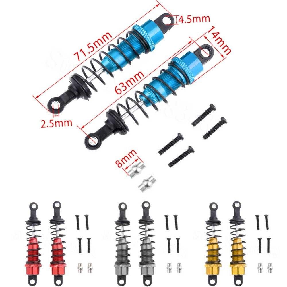 Amortiguador de impacto frontal de aleación de aluminio 0016 para WLtoys 12428 12423 1/12 RC coche oruga corta camión repuestos