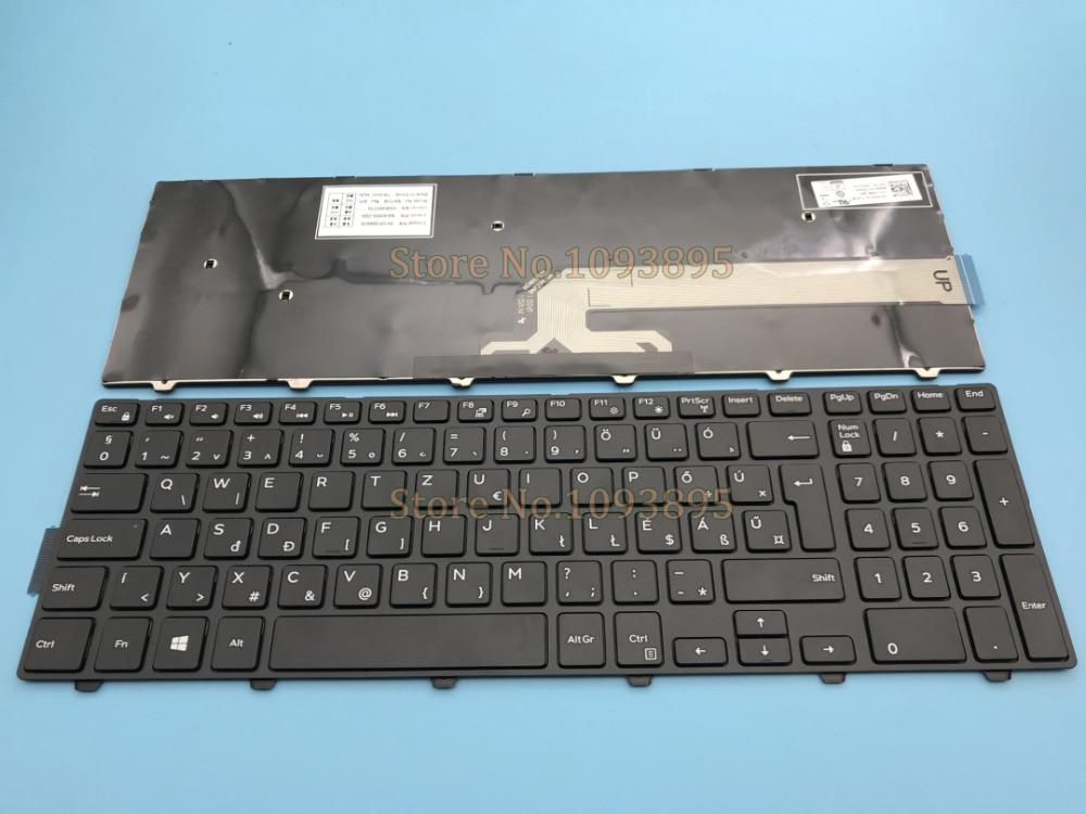 Nuevo húngaro teclado para Dell Inspiron 5555 15 5558, 5552, 3551, 3558, 3552, 3559 portátil húngaro teclado No retroiluminada