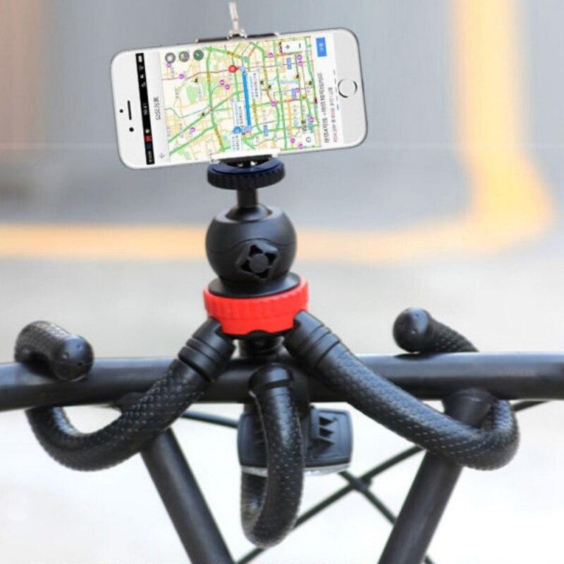 Trípode móvil pulpo Flexible con adaptador de soporte para teléfono para iPhone X Smartphone DSLR cámara Nikon Canon Gopro Hero
