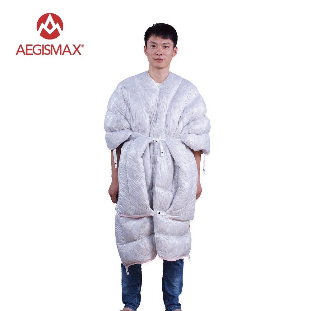 Aegismax-كيس نوم من ريش الإوز ، حقيبة نوم صغيرة 32 Degee 850FP ، للتخييم في الهواء الطلق ، خفيفة للغاية ، مع كيس مضغوط