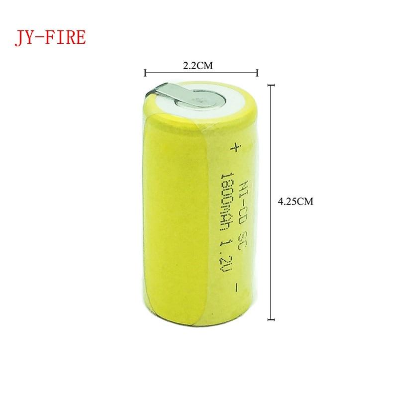 8 pièces haute qualité batterie rechargeable batterie sub c batterie SC remplacement de batterie 1.2 v avec tab 1800 mah