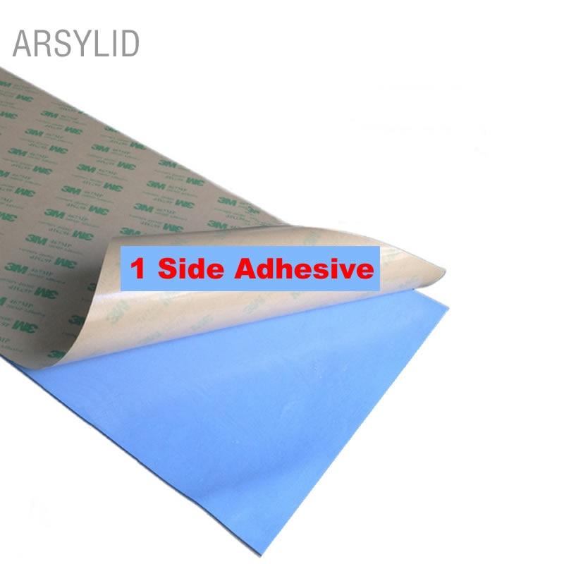 High Efficient thermal conductivity 3.6W 100*200mm 1 Single side Conductive Heatsink Plaster thermal pad for heat sink radiator