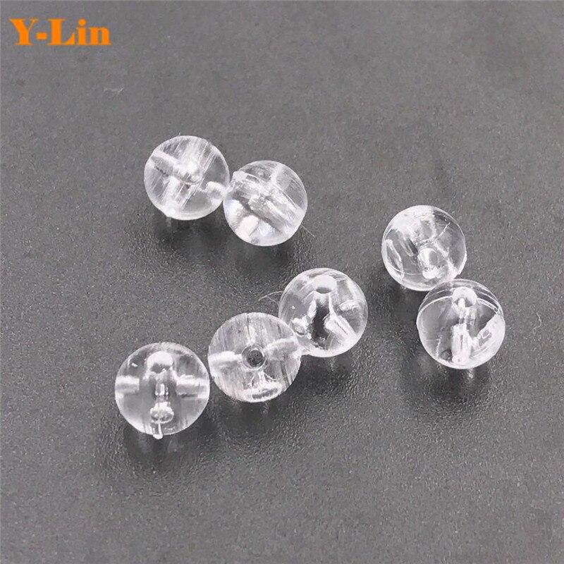 200 Uds 2x3 3x3,5 pesca Oval transparente doble taladro perlas cruzadas cuentas de plástico duro para caña de pescar leader