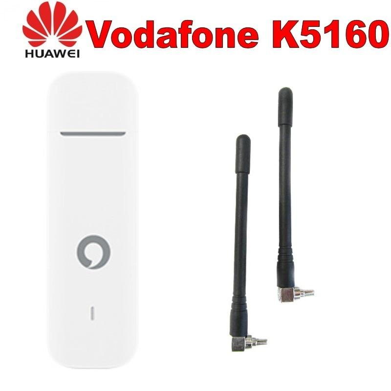 Lot of 25pcs Vodafone K5160 HUAWEI 4G usb dongle 150Mbps Unlocked 4G MODEM plus 2pcs 4g antenna