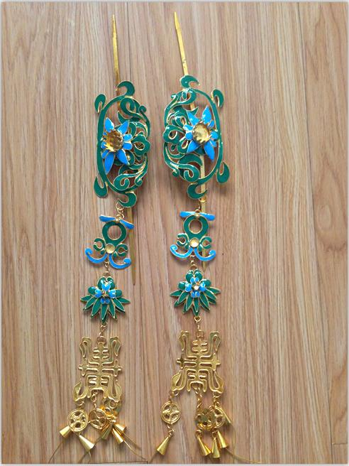Hair Jewelry TV Play Special use Miao Silver Handmade Antique Pinach Artwork Hanfu Accessory Women's