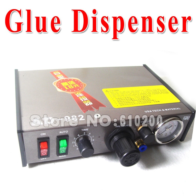220 V AD-982 Semi-Auto dispensador de pegamento PCB pasta de soldadura líquido controlador gotero fluido pegamento Splitter herramientas máquina del 983A