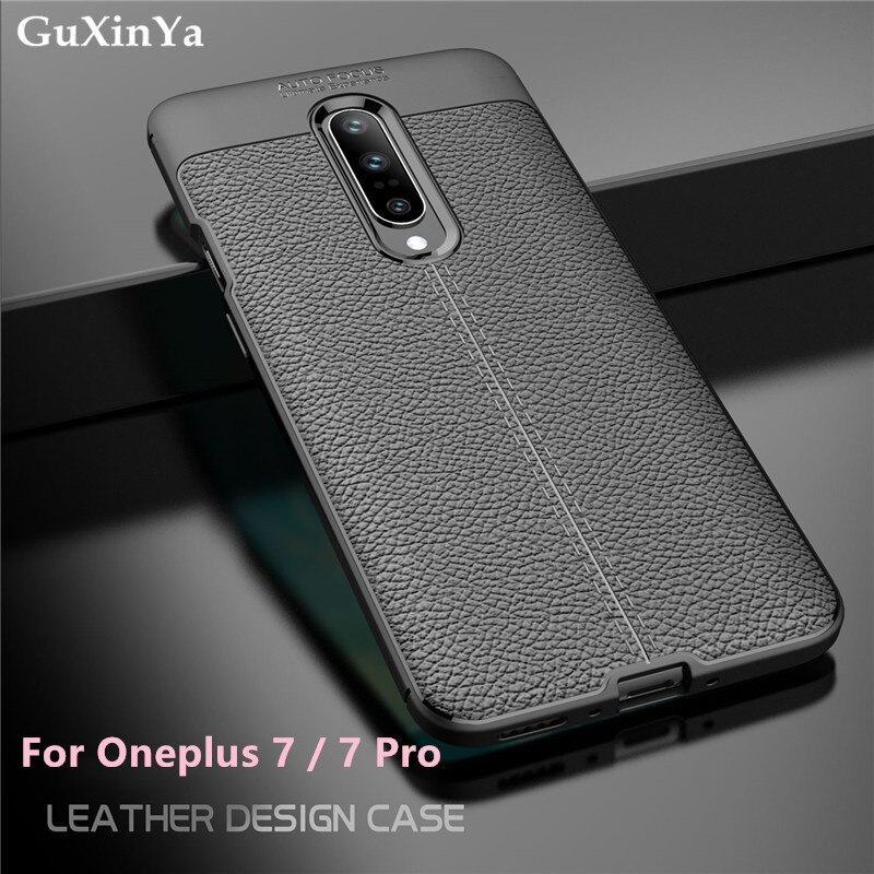 GuXinYa Oneplus 7 Pro Phone Case Oneplus 7 Luxury Leather ShockProof TPU Protective Case For Oneplus