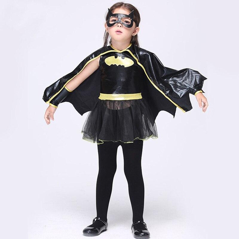 Niñas Batman Cosplay ropa niño fantasía vestido de fantasía niños carnaval fiesta Halloween disfraz