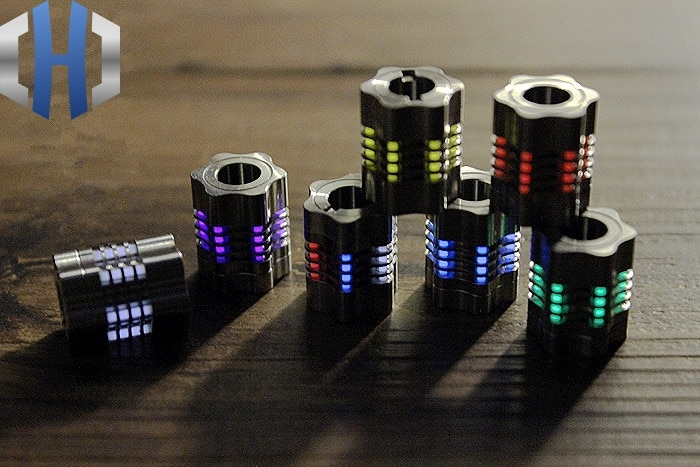 Titanium Alloy Knife Beads Paracord Can Fits Six Tritium Gas Tube Knife Lanyard Rope Outdoor Parachu