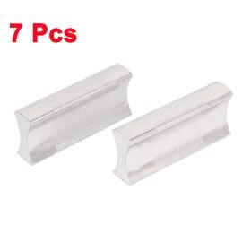 Uxcell, gran oferta, 7 Uds., 32mm, perilla central de orificio de óxido de aluminio, perilla para cajones de vestidor, tiradores, Hardware, tono plateado