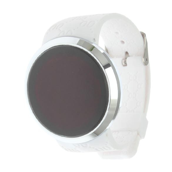 2015 Fashionable Touch Screen Digital Watch LED Rounded Compass Men Woman Sport Wrist Watch White TT