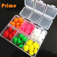 60 pcs Carp fishing assorited box 6 colors floating artifical corn baits  pop up  baits Environmental protection material