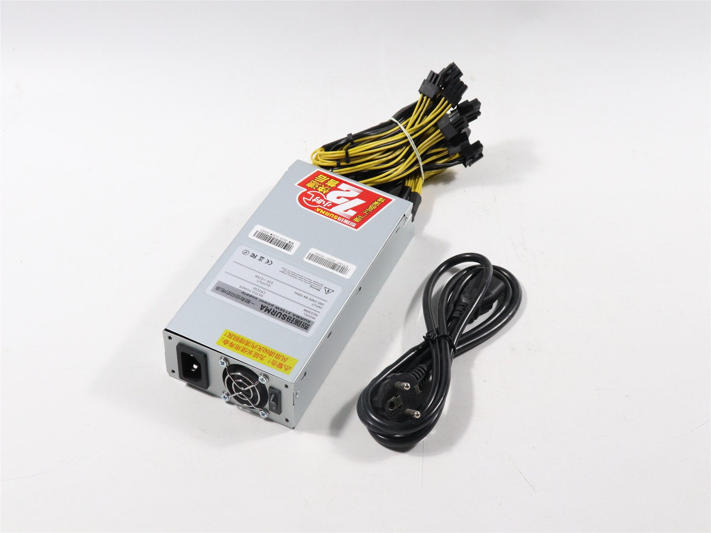 New ZEC BTC LTC DASH Miner PSU 2150W Power Supply For Antminer S9 S9j S9k S9 SE L3+ E3 Z9 Z11 T9 Innosilicon A9 Ebit E9i ETH PSU