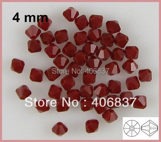 ¡Envío Gratis! 720 unids/lote, cuentas de bicono de cristal rojo Coral de calidad superior china de 4mm
