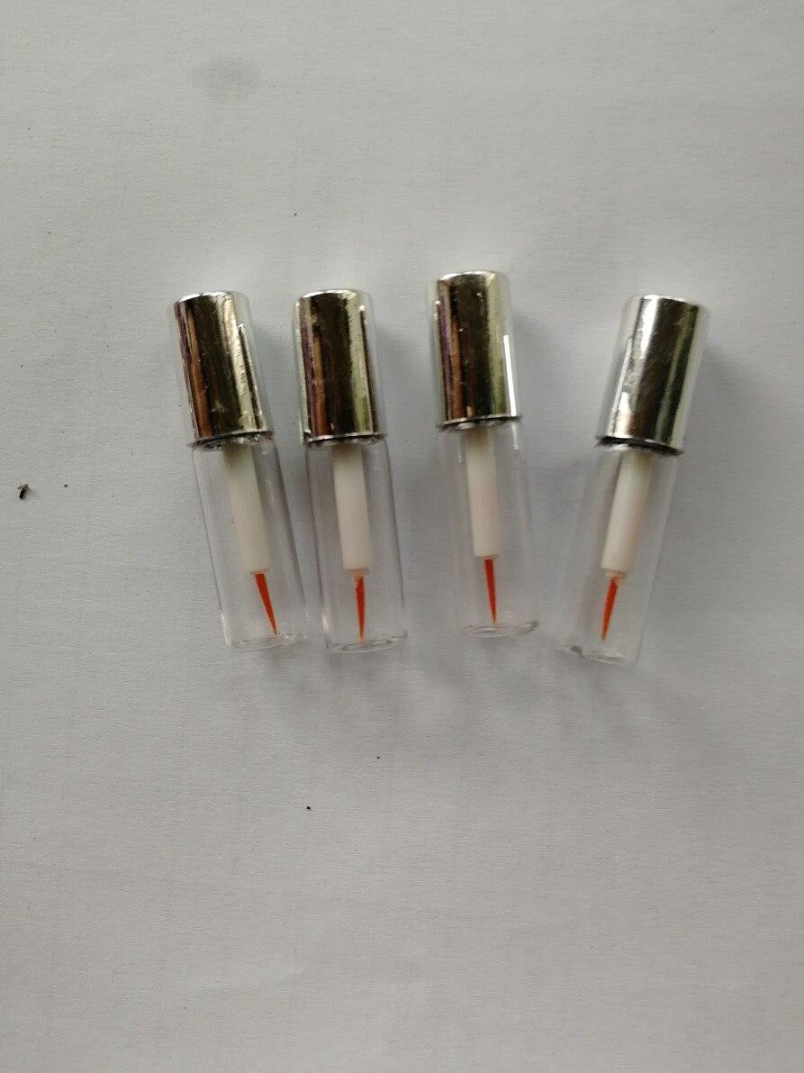 1.2ML 50pcs/100pcs Empty Clear Liquid Eyeliner Refillable Tube with Silver Cap,DIY Mini Glue Packing Bottle,Eyeliner Sample Tube