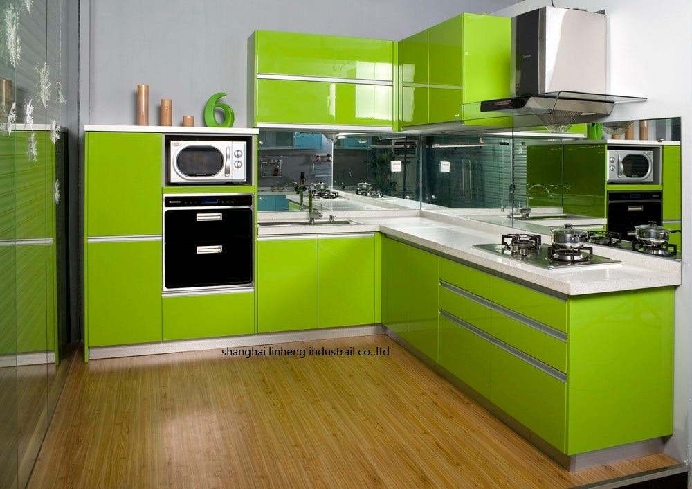 High gloss/lacquer kitchen cabinet mordern(LH-LA092)