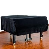 Quality Velvet Bordered Grand Piano Cover black cover piano cover