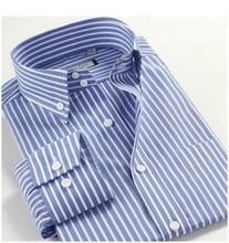 100% de algodón de gran tamaño M-3XL 4XL 5XL Autu-de los hombres de verano de manga larga Casual DressBusinesss de camisas, rojo, azul