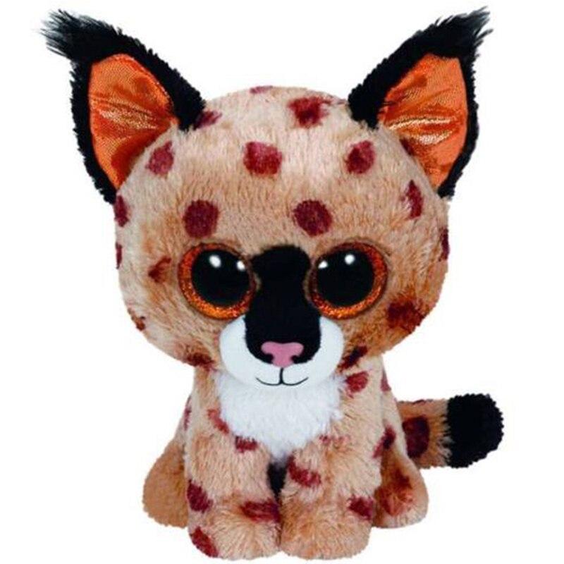 """Ty pelúcia animal boneca trigo mourisco o lince o gato selvagem macio recheado brinquedos 6 """"15cm"""