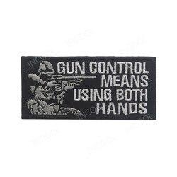 3D Bordado Patch de Controle de Armas Sniper Moral Militar Tactical Patches Emblema Apliques Bordados Emblemas de Combate Transporte da gota