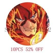 Bande dessinée super-héros le Flash visage pendentif collier porte-clés signet bouton de manchette boucle doreille