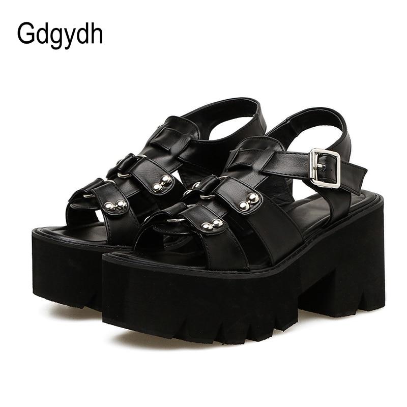 Gdgydh-صندل نسائي بكعب سميك ، حذاء بانك بنعل سميك ، حذاء مفتوح من الأمام ، عصري ، برشام ، بالجملة ، صيف 2021