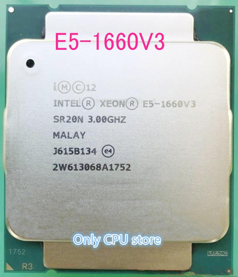 E5-1660V3 Original Intel Xeon versión OEM E5-1660 V3 3,0 GHZ 8-Core 20MB SmartCache 140W E5 1660 V3 DDR4 1866MHz FCLGA2011-3 TPD