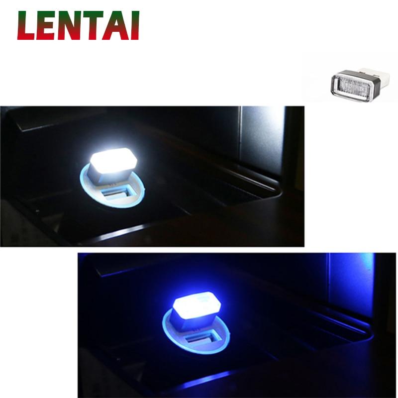 Lámpara de luz LED EALEN para Auto, 1 unidad, USB de ambiente para Fiat VW Polo Golf 5 MK4 4 MK7 Touran T5 Bora Skoda Fabia Yeti Superb