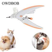 OWDBOB Hond Nagelknipper Slijpmachines met LED Licht en 5X Vergrootglas Pet Care Honden Grooming Claw Nail Trimmer Cutter schaar