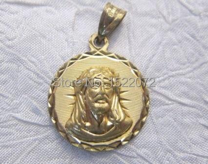 Alta calidad y bajo precio, Medalla Holy 3D retro católico religioso personalizada, Cara Santa de Jesús, medallas 3d de oro personalizado baratas