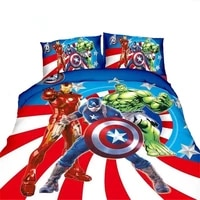 marvel the avengers bedding set twin size duvet covers single bed fitted sheet for kids boys bedroom decor 3 4 pcs coverlets hot