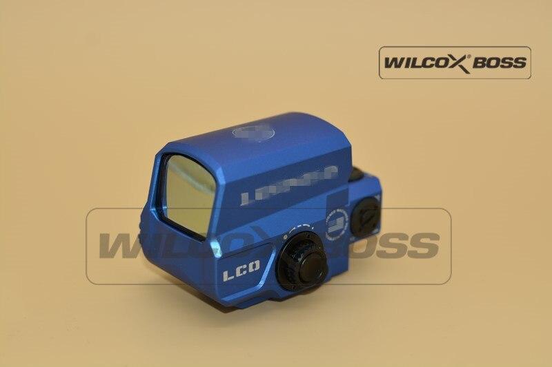 Nueva visión mejorada LCO, mira telescópica de punto rojo, mira telescópica holográfica de caza, encaja en cualquier montaje de carril de 20mm, pistola de Airsoft (azul)