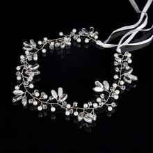 Fashion Rhinestone Pearl Bridal Headband Handmade Wedding Hair Accessories Jewelry bridal tiara headpiece