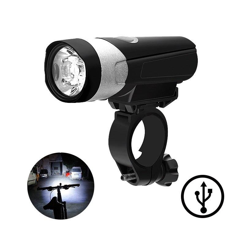 2019 bicicleta LED bicicleta faros USB carga fuerte luz linterna MTB Carretera ciclismo accesorios lámpara frontal negro