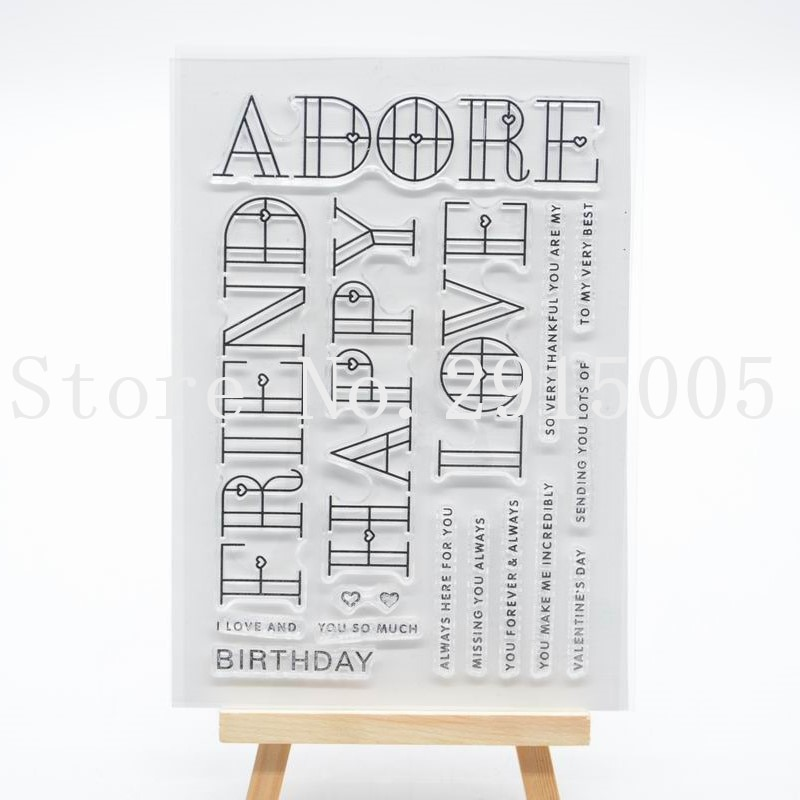 Adore Scrapbook DIY photo cards account rubber stamp clear stamp transparent stamp 11x16cm CS2141