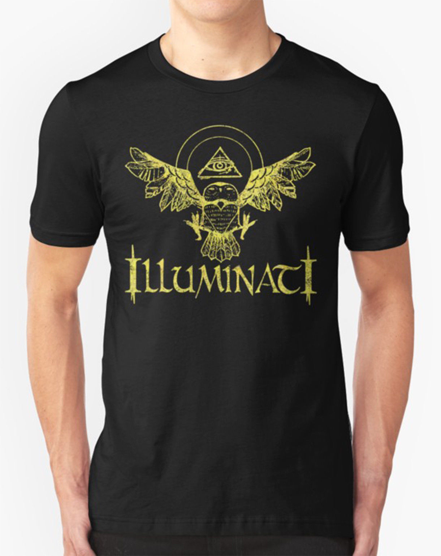 Camiseta ILLUMINATI búho ALL seing EYE Masons alta calidad personalizada impresa Tops Hipster Tees camiseta Cool Casual pride
