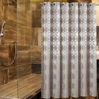 CLPAIZI-rideau de douche decoratif de salle de bain  rideau en tissu a motif circulaire rond  rideau en tissu impermeable et resistant a la moisissure D30