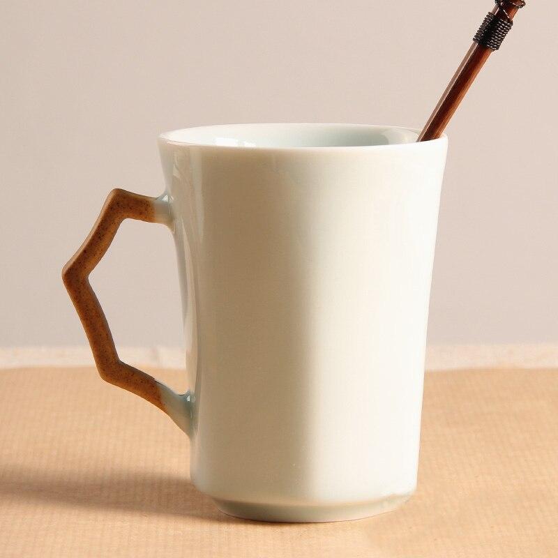 كوب سيراميك يدوي رائع ، فنجان قهوة سيراميك قصير جدًا ، كوب قهوة قابل للتخصيص
