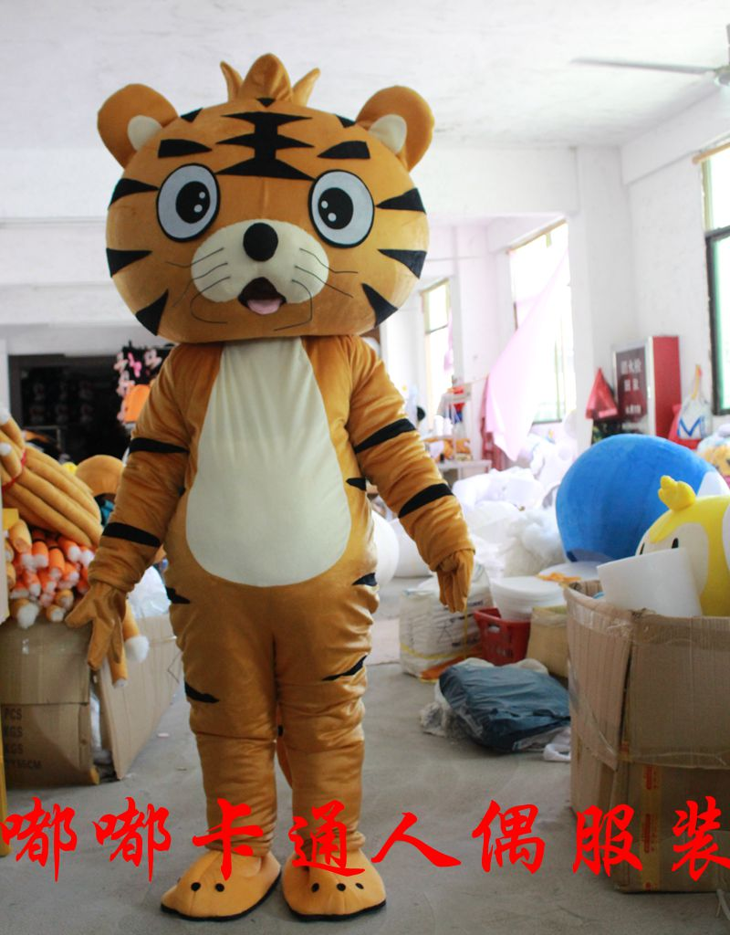 Disfraz de Mascota de tigre mascota traje de dibujos animados carácter disfraz cosplay de dibujos animados traje de tamaño adulto festival día mascota adulta vestido