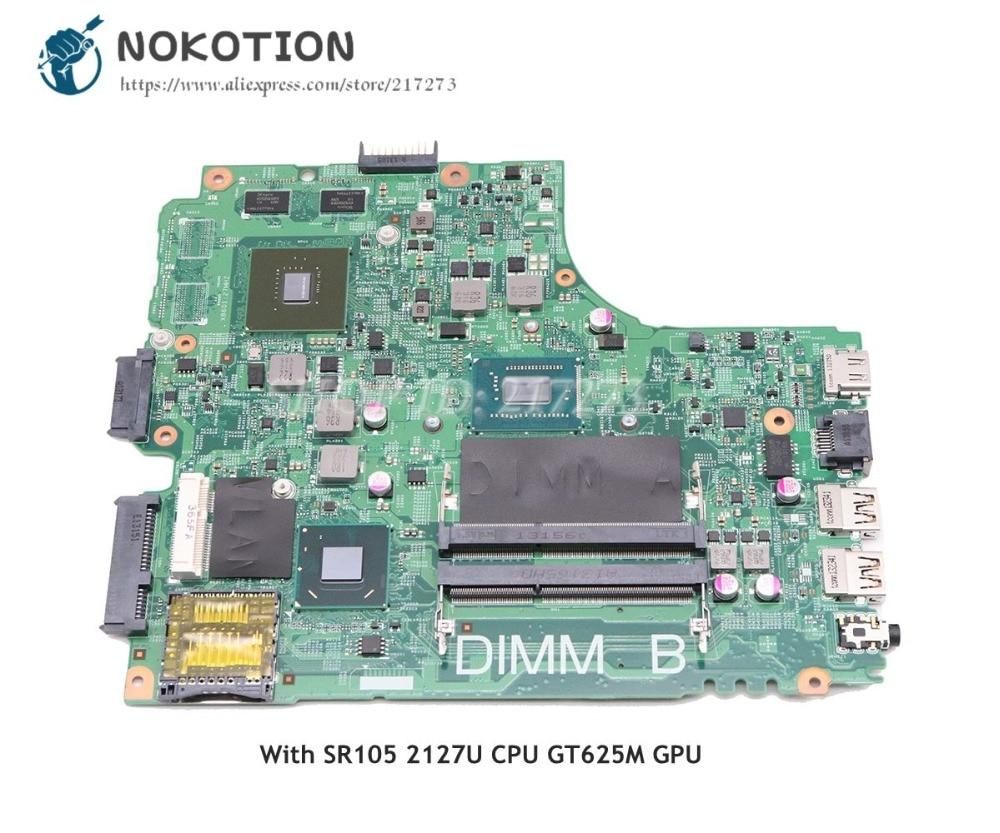 2127U 15R NOKOTION Para Dell Inspiron 3421 Laptop Motherboard CPU DDR3 GT625M CN-0PFPW6 PFPW6 12204-1 PCB da placa de Vídeo 5J8Y4