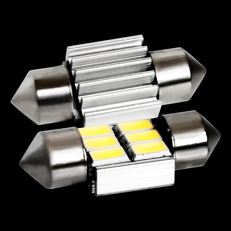 1pc 31mm c5w c10w c3w sv8.5 6 led 5630 smd festão canbus nenhum erro luz da placa de licença do carro luzes de leitura 12v