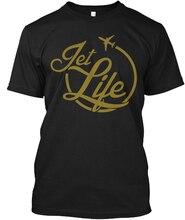 Jet Life Jetlife popular Tagless Tee T-Shirt100% cotton casual Mens T Shirt Cotton Short Sleeve print  Print Fitness T-Shirt