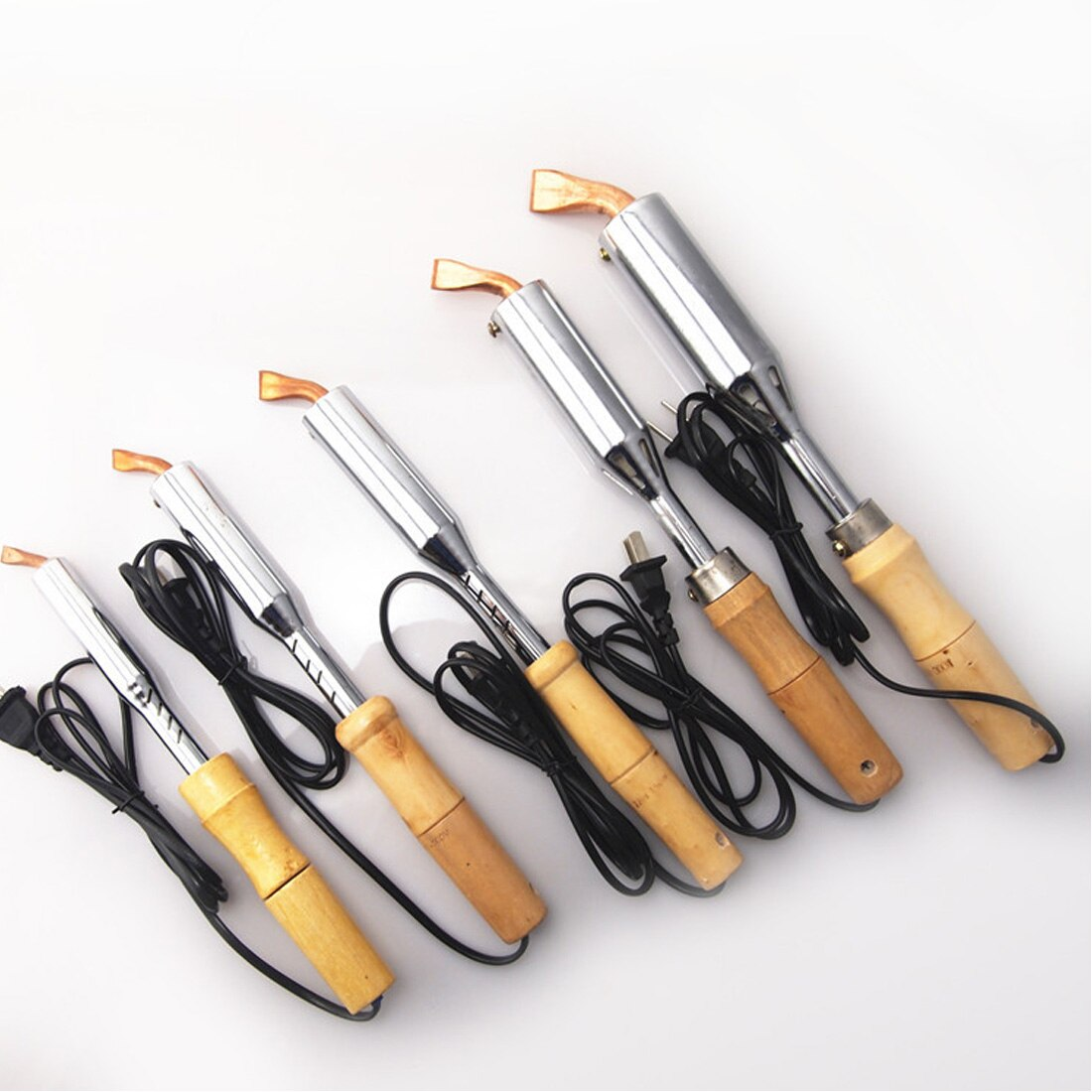 Горячая 220 В 50 Гц Электрический паяльник высокой мощности зубило наконечник паяльник зубило наконечник деревянной ручкой