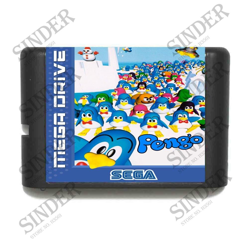 Pengo 16 bit tarjeta de juego MD para Sega Mega Drive para...